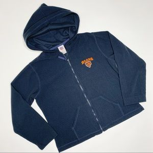 NFL Chicago Bears Ribbed Fleece Zip Up Hoodie M